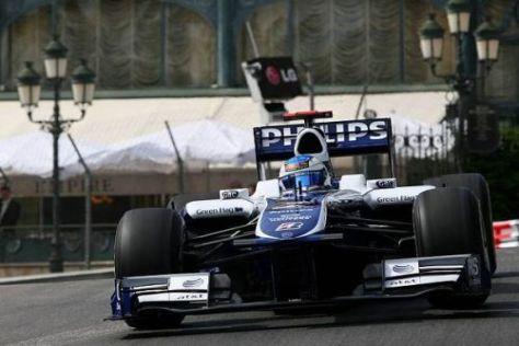 Rubens Barrichello ist zufrieden, denn er schafften den Sprung in die Top 10