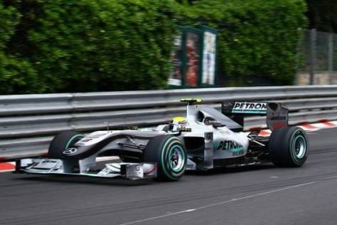 Nico Rosberg war um einen Hauch schneller als Michael Schumacher