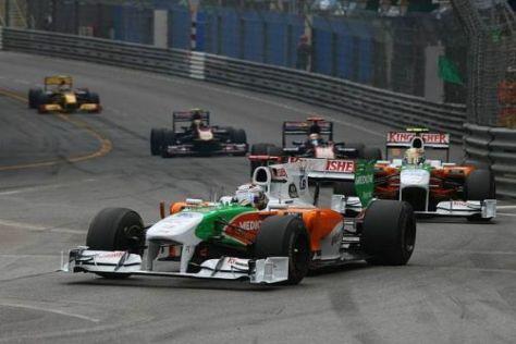 Adrian Sutil vor Vitantonio Liuzzi: Beide Fahrer konnten im Fürstentum punkten