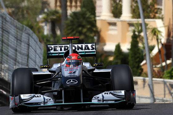 20 Sekunden Zeitstrafe bekam Schumi in Monaco aufgebrummt. Ergebnis: Nur P12 statt Rang sechs.