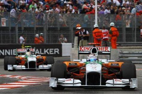 Im Doppelpack in die Punkte: Adrian Sutil und Vitantonio Liuzzi fuhren in die Top 10