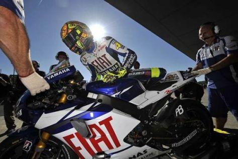 Valentino Rossi schnappte Casey Stoner in letzter Sekunde die Bestzeit weg
