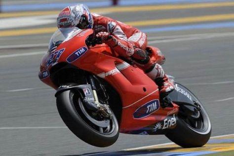Casey Stoner war mit dem Auftakt in das Le-Mans-Wochenende zufrieden