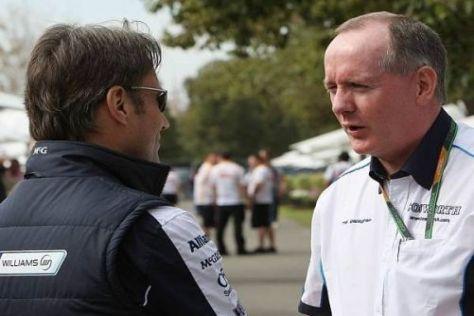 Adam Parr von Williams im Gespräch mit Mark Gallagher von Cosworth