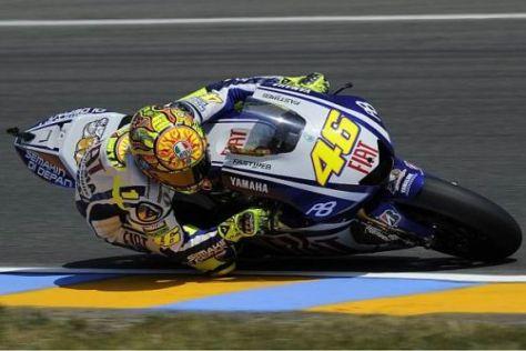 Valentino Rossi setzte sich hauchdünn gegen die Konkurrenz durch