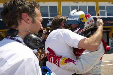 Audi feiert in Valencia die Pole-Position von Mattias Ekström