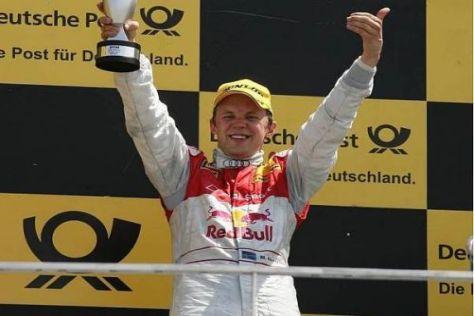 Mattias Ekström feierte auf dem Podium ausgelassen seinen Sieg