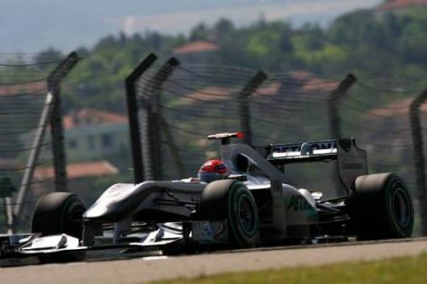 Michael Schumacher war einen Hauch langsamer als sein Teamkollege