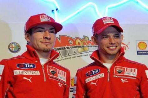 Das Ducati-Duo Nicky Hayden und Casey Stoner kommt gut miteinander aus