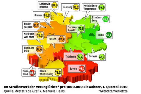 Unfallstatistik-Karte