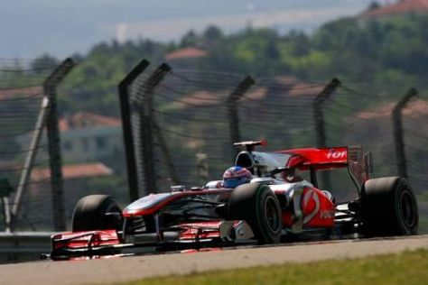 Jenson Button ist zufrieden mit dem Aufwärtstrend bei McLaren-Mercedes