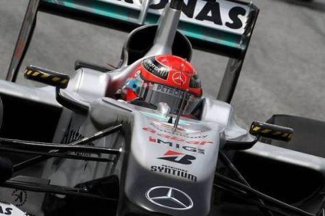 Michael Schumacher will mit dem Mercedes endlich einmal auf das Podest