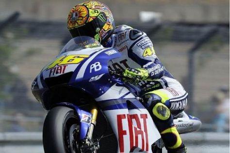 Valentino Rossi dominierte im ersten Freien Training am Freitagnachmittag