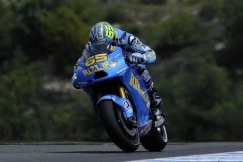 Loris Capirossi setzte am Freitag ein deutliches Lebenszeichen von Suzuki ab