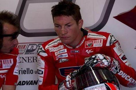 Nicky Hayden wundert sich über die Art des Rossi-Sturzes in Mugello