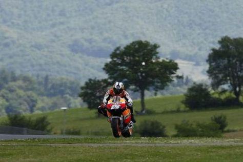 Dani Pedrosa fuhr in Mugello ein einsames Rennen an derr Spitze
