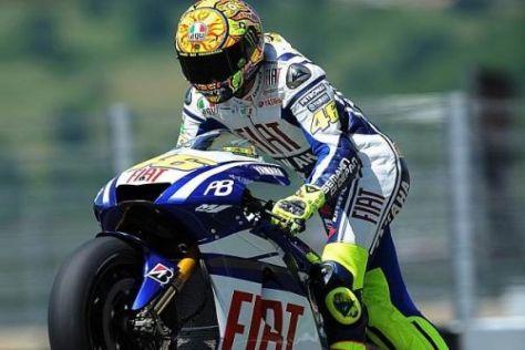 Springt Valentino Rossi bereits im August wieder auf seine Yamaha M1?
