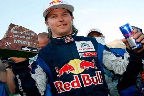 Im Zeichen der Dose: Kimi Räikkönen könnte weiterhin in der Rallye-WM fahren