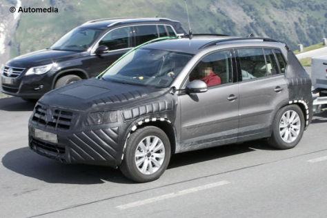 VW Tiguan Facelift Erlkönig