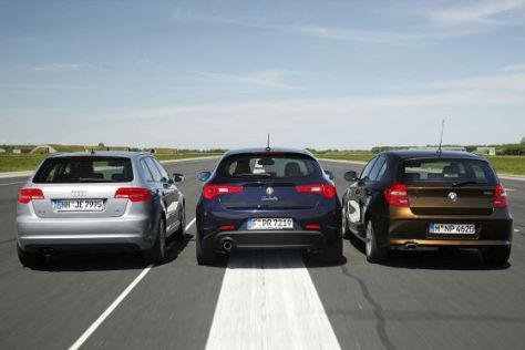 Alfa Giulietta Audi A3 Sportback BMW 1er