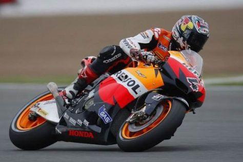 Der Italiener Andrea Dovizioso war heute der schnellere Honda-Werkspilot