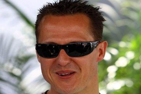 Gute Laune hält an: Michael Schumacher geht mit der Kritik sehr gelassen um