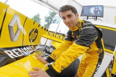 Nicolas Prost nahm in Magny-Cours vorsichtig Kontakt zum Renault R29 auf