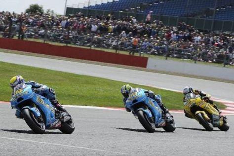 Die Suzuki-Piloten taten sich beim Heimrennen des Teams sehr schwer