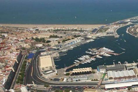 Im Hafengebiet von Valencia wird seit 2008 Formel 1 gefahren