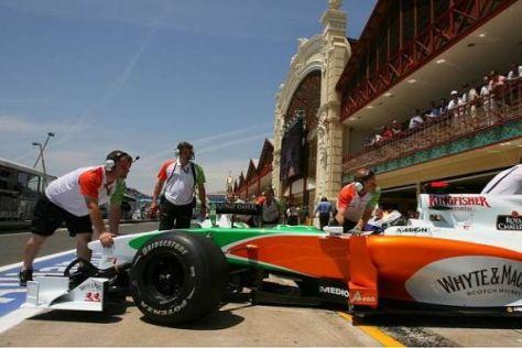 Adrian Sutil hat nach dem Qualifying-Rückschlag noch lange nicht aufgegeben