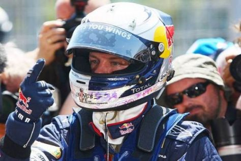Sebastian Vettel jubelt: Endlich wieder auf der Pole-Position