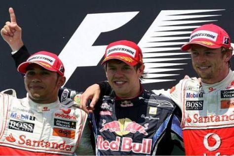 Sebastian Vettel konnte sich allem Schlamassel erfolgreich entziehen