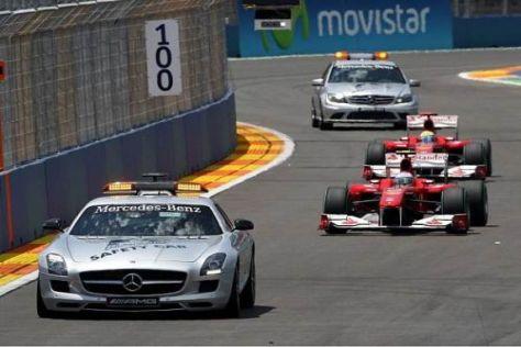 Das Safety-Car wurde Fernando Alonso in Valencia zum Verhängnis