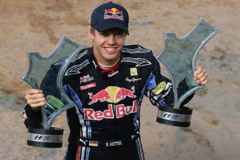 Sebastian Vettel darf sich endlich wieder über einen Sieg freuen