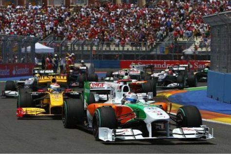 Adrian Sutil profitierte vom Safety-Car, zeigte aber auch eine starke Leistung