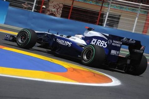 Rubens Barrichello setzte den Speed des Williams-Cosworth perfekt um