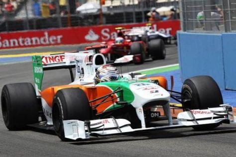 Gutes Ergebnis: Adrian Sutil fuhr in Valencia auf einen starken sechsten Rang