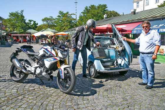 BMW G 310 R trifft BMW Isetta