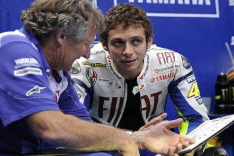 Seit vielen Jahren ein gutes Team: Jeremy Burgess und Valentino Rossi