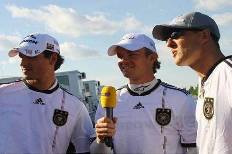Seine deutschen Fahrerkollegen stehen weiterhin hinter Michael Schumacher