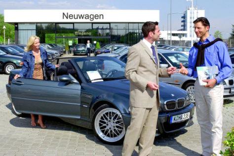 VDA-Bilanz: Autokauf beim BMW-Händler
