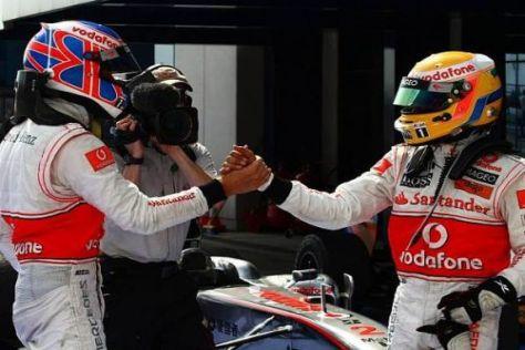 Jenson Button und Lewis Hamiltin sind in Großbritannien die großen Stars