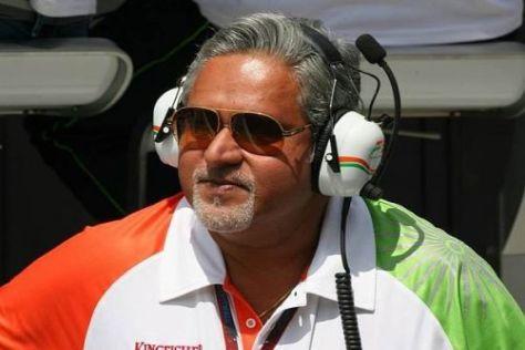Force-India-Teamchef Vijay Mallya will in Zukunft einen Inder in seinem Auto sehen