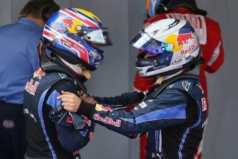 Mark Webber und Sebastian Vettel sind keine Freunde, aber gute Kollegen