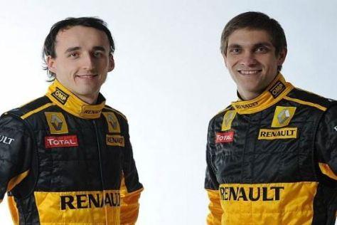 Zufrieden mit der ersten Saisonhälfte: Vitaly Petrov und Robert Kubica