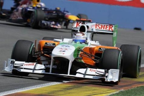 Adrian Sutil will den Force-India-Mercedes auch in Silverstone in die Punkte fahren