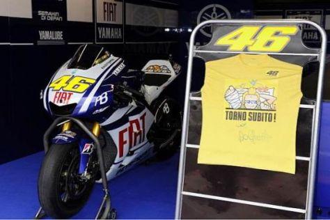 Valentino Rossi will womöglich schon am Sachsenring auf sein MotoGP-Bike