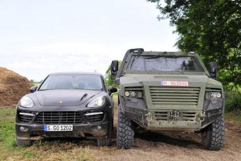 Cayenne vs. KMW AMPV: SUV trifft Panzer-Allradler der ...