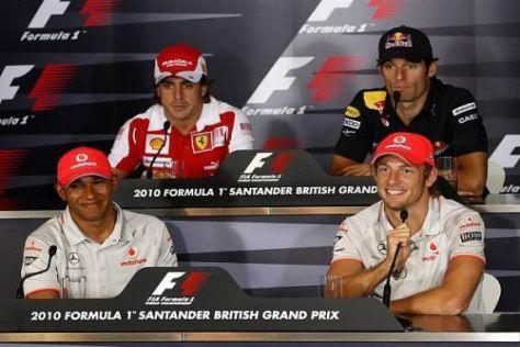 Die vier Topstars der Szene hatten viel Spaß in der Pressekonferenz