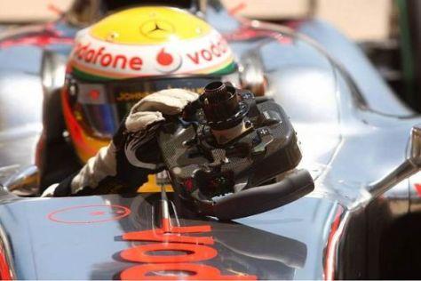 Lewis Hamilton belegte zum Auftakt in Silverstone den achten Platz